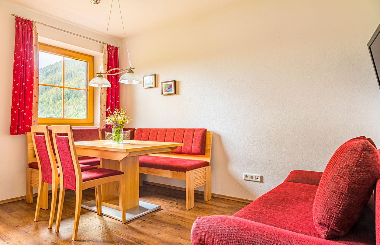 Alpenappartement Oberlehengut in Werfenweng gemütliche Wohnküche