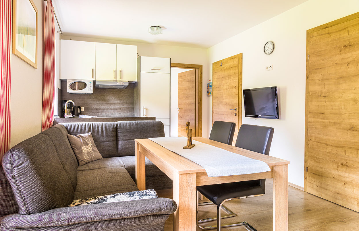 Wohnküche Ferienwohnung Alpenappartement Oberlehengut in Werfenweng Salzburg