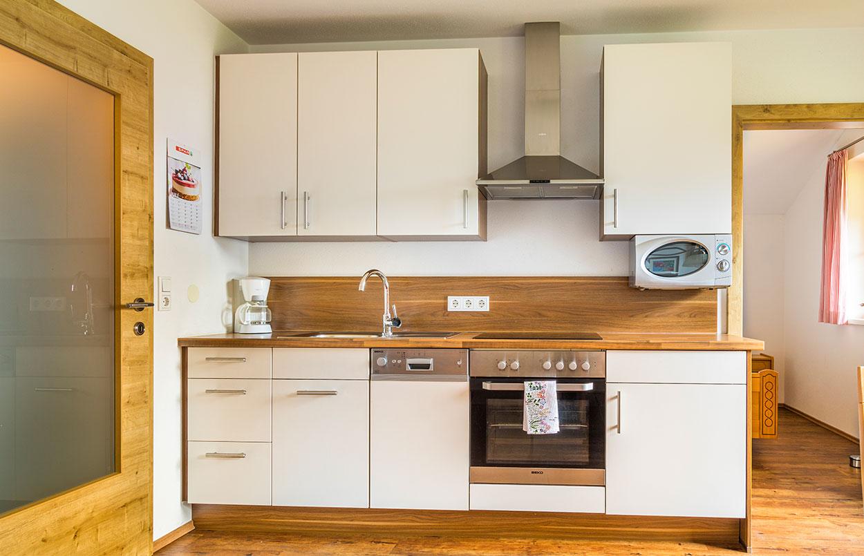 Küche des Ferienappartements Oberlehengut in Werfenweng