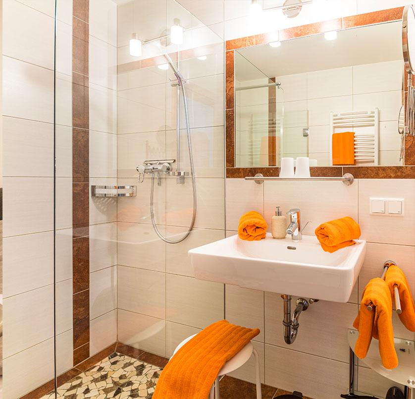 Badezimmer im Ferienwohnung Alpenappartement Oberlehengut in Werfenweng Salzburg