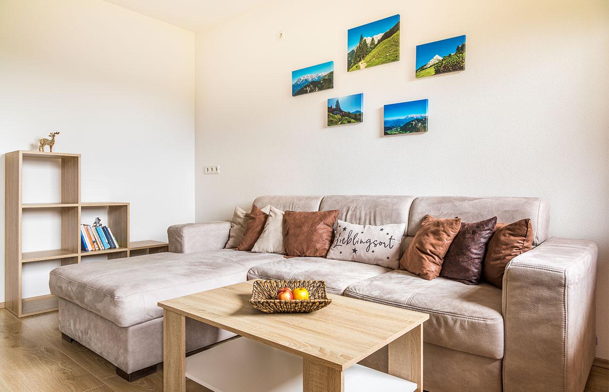 Sofa in der Ferienwohnung Alpenappartement Oberlehengut in Werfenweng im Land Salzburg