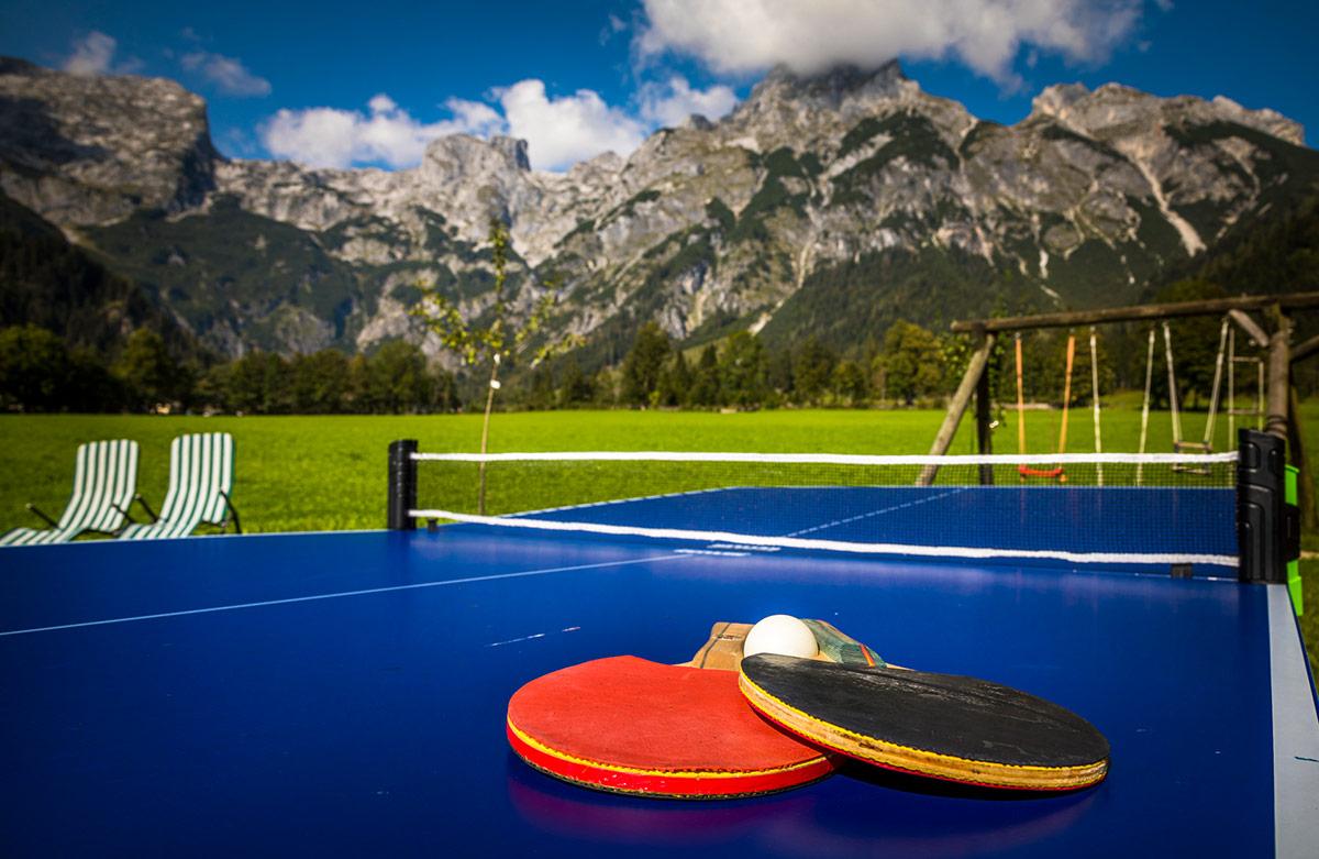 Tischtennistisch für die Gäste vom Alpenappartement Oberlehengut in Werfenenweng